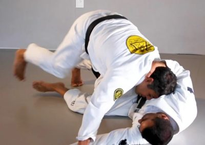 Defence Against Scissors Sweep and Counter Attack When Passing the Guard